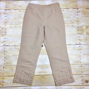 Mondi Vintage Embellished High Rise Cropped Pants